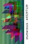 arrow background vector | Shutterstock .eps vector #645297139