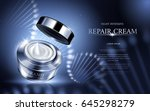 night intensive repair cream... | Shutterstock .eps vector #645298279