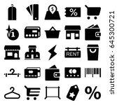 sale icons set. set of 25 sale... | Shutterstock .eps vector #645300721