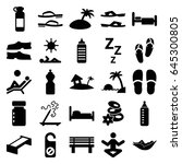 relax icons set. set of 25