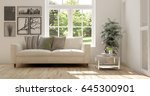 white room with sofa and green... | Shutterstock . vector #645300901