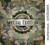 special edition camo emblem | Shutterstock .eps vector #645302845