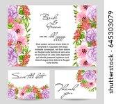 vintage delicate invitation... | Shutterstock .eps vector #645303079