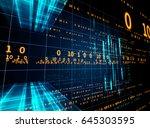 digital code number abstract... | Shutterstock . vector #645303595