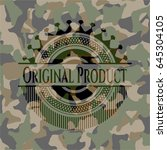 original product on camouflage... | Shutterstock .eps vector #645304105