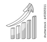 statistics bars with arrow | Shutterstock .eps vector #645305311