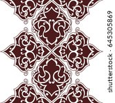 seamless abstract ornate pattern | Shutterstock .eps vector #645305869