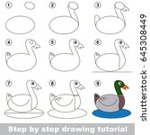 kid game to develop drawing... | Shutterstock .eps vector #645308449