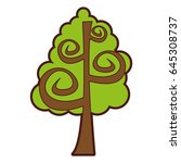 tree plant drawing icon | Shutterstock .eps vector #645308737