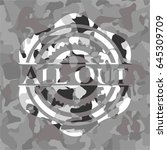 all out on grey camo pattern | Shutterstock .eps vector #645309709