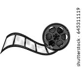 tape reel film icon | Shutterstock .eps vector #645311119