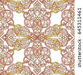 seamless abstract ornate pattern | Shutterstock .eps vector #645311461