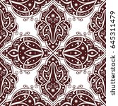 seamless abstract ornate pattern | Shutterstock .eps vector #645311479