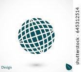 globe earth icon  flat design... | Shutterstock .eps vector #645312514