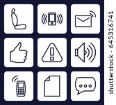 message icon. set of 9 outline...   Shutterstock .eps vector #645316741