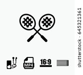 set of 5 play filled icons such ...