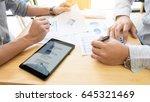 team work process. young...   Shutterstock . vector #645321469