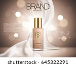repair serum ad  brown bokeh... | Shutterstock .eps vector #645322291