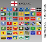 all flags of the ceremonial... | Shutterstock .eps vector #645322885