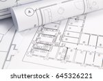 architectural plan. engineering ... | Shutterstock . vector #645326221