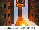 lisbon  elevator santa justa at ... | Shutterstock . vector #645330184