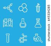 scientific icons set. set of 9... | Shutterstock .eps vector #645334285