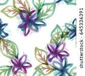 floral seamless pattern....   Shutterstock . vector #645336391