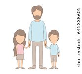 light color caricature faceless ... | Shutterstock .eps vector #645338605