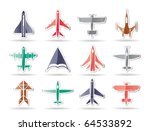 Different Types Of Plane Icons...