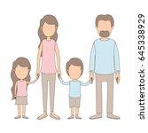 light color caricature faceless ... | Shutterstock .eps vector #645338929