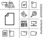 folder icon. set of 13 outline...   Shutterstock .eps vector #645342031