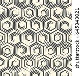 seamless monochrome wallpaper.... | Shutterstock .eps vector #645343021