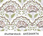 seamless pattern with fantasy... | Shutterstock .eps vector #645344974
