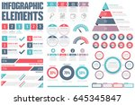 infographic elements   process... | Shutterstock .eps vector #645345847