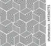 black and white geometric... | Shutterstock .eps vector #645360751