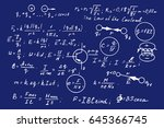 physics  electronic engineering ... | Shutterstock .eps vector #645366745