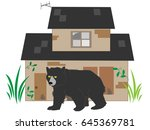 the bear which appears in the... | Shutterstock .eps vector #645369781