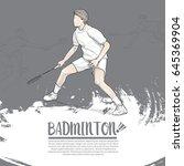 hand drawn illustration of... | Shutterstock .eps vector #645369904
