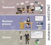 business banner three themes  ... | Shutterstock .eps vector #645372967