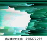 colorful glitched background.... | Shutterstock .eps vector #645373099