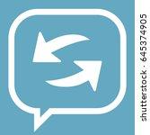 arrow icon stock vector... | Shutterstock .eps vector #645374905