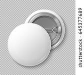 white blank badging round... | Shutterstock .eps vector #645377689