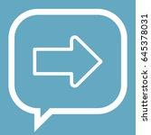 arrow icon stock vector... | Shutterstock .eps vector #645378031