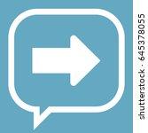 arrow icon stock vector... | Shutterstock .eps vector #645378055