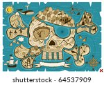 Map Of  Treasure Island In The...