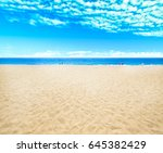 sea and beach background with... | Shutterstock . vector #645382429