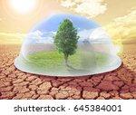 symbol of environmental   tree... | Shutterstock . vector #645384001