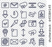 download icons set. set of 25... | Shutterstock .eps vector #645384145