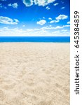 sea and beach background with... | Shutterstock . vector #645384859