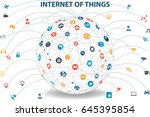 internet of things concept and... | Shutterstock .eps vector #645395854